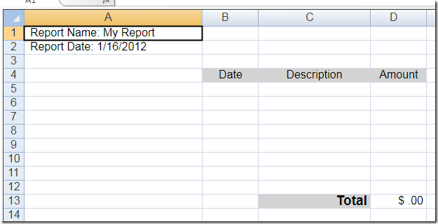 LightSwitch Help Website Blog Using the ComponentOne Excel for – Blank Expense Report