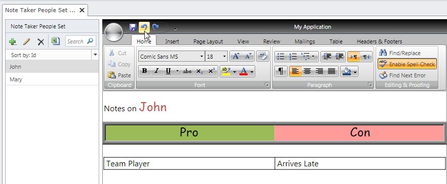 Professional text editor